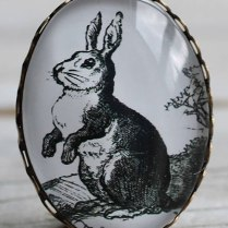 Add a vintage and funny touch to your jacket with this Rabbit Brooch, £5 from Silk Purse, Sow's Ear