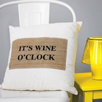 Party time! Wine Cushion, £29.50 by Iredale Towers, on Not On The High Street